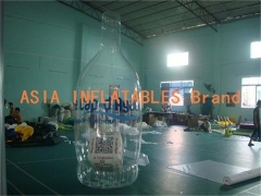 Botella inflable de 3m pvc
