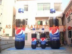 Botella inflable de cola pepsi
