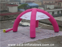 Toldo inflable de color rosa