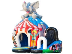 Elefante disco bouncy castillo
