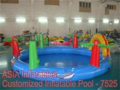 Piscina inflable patio trasero