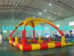 Tumbona inflable con trampolines