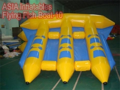 Pez volador inflable barco