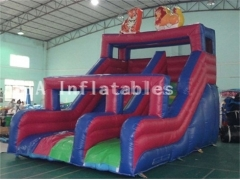 Zoológico, parque, inflable, diapositiva