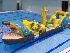 Barco pirata piscina inflable