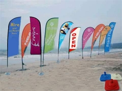 Publicidad pop up flags stand