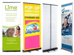 Stand de banners emergentes