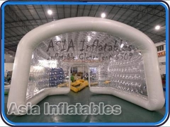 Toldo inflable transparente