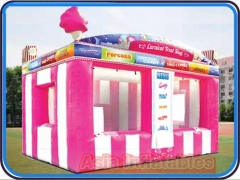 candy floss cabina inflable