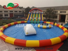 Inflatable Water Park With Slide