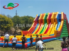 carrera inflable multi carriles deslizante