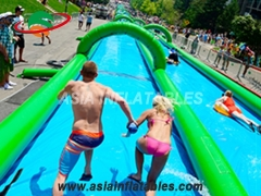 Inflatable outside slide the city water slide
