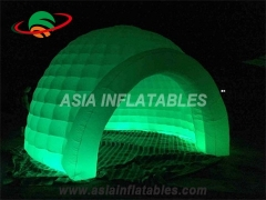Carpa inflable iluminada con led para evento.