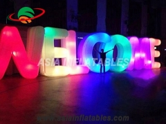 letras inflables de luz led