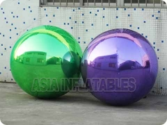 Purple Inflatable Mirror Balloon