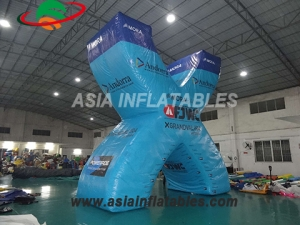 Advertising inflatable X shape letter character