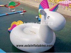 Giant Inflatable Unicorn Water Trampoline Slide
