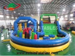 piscina inflable obstáculo