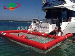 piscina inflable anti medusas Con recinto de red