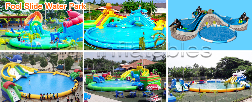 Land Pool Slide Water Park